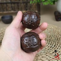 Wholesale Vietnam aloes wood handle will pin gifts to health Wooden crafts Master the fortune health care ball elderly health care ball handball