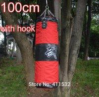 Wholesale boxing sandbag with hook EMPTY cm Training Fitness MMA Boxing Kick Fight Bag Sand Punching Sandbag SA35300343