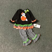 Winter autumn ghost - Baby Baby Girls Halloween Applique Legging Set Halloween Applique Set Editions HALLOWEEN Ghost Skeleton Appliqué Legging Set M T