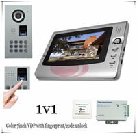 access system - 1v1 Quality Fingerprint Code unlock Video door phones intercom systems outdoor unit waterproof IP65 Access control power supply