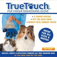 Wholesale Creation True Touch Pet Puppy Dog Cat Gro oming Cleaning G love Right Silicone Massage Removal Dirtly Bath Comb Brush Hair Tools