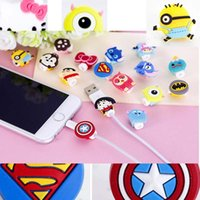 Wholesale 1000pieces Cartoon USB Cable Earphone Protector headphones line saver For Mobile phone charging line Hello Kitty