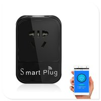 Wholesale Hot sell Smart plug pin wifi connect smart control power plugs with two USB multi port for W electric appliance DHL free