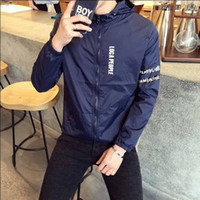 Wholesale Fall Hot Selling New Arrival Men Fashion Hooded jacket Jacket Summer Tide Male Hooded Thin Sunscreen Coat