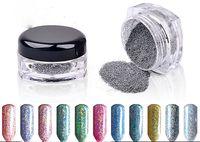 Wholesale Metallic Mirror Effect Nail Powder Magic Mirror Chrome Effect Dust Shimmer Nail Art Powder Colorful Glitter Mirror Nail Powder Nail Art