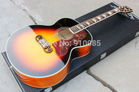 Wholesale China Manufacture Chibson Sunburst Acoustic Guitar Maple Body Spruce Top J200 Electric Acoustic Guitar Jumbo Style Acoustic