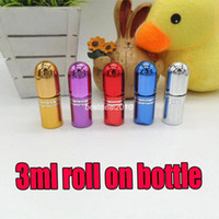 ball metal container - 200pcs ML UV oil bottle perfume bottle ml bottle CC ball on empty bottles roll on cosmetics Container Essential Oil Perfume Tube Travel