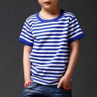 Wholesale Children Clothes Design For Boys - 2-13Year 2016 Summer New striped Children T Shirts Boys Kids T-Shirt Designs Teen Clothing For Boys Baby Clothing Girls T-Shirts