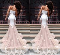 Wholesale Retro chest wrapped package hip embroidery Lei mesh yarn princess party dress skirt fishtail skirt big skirt