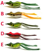 bass jig skirts - 3pcs Bass Pike Snakehead Fishing Soft Bait Lure Frog w Lang Skirt Floating Weedless Single Hook NEW