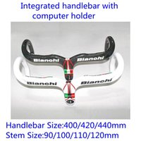 bianchi handlebars - Two Colors Bianchi Carbon Bike Handlebar With Computer Holder Integrated Handlebar Size mm mm