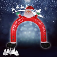 archway decorations - 3m Christmas Inflatable Santa Cluas Archway Arched Door Blow Up Decoration Advertising