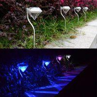 beautiful garden landscapes - Beautiful LED Diamond Light Solar Powered RGB Diamond Landscape Light Outdoor Garden Lawn Lamp Solar Yard Light
