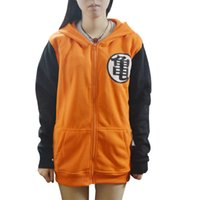 Cheap Wholesale-Anime Dragon Ball Casual Long Sleeve Zipper Sweatshirts Son Goku Cosplay Hooded Hoodies Thin Sport Coat Cartoon Jacket Coat