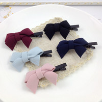 Wholesale The new Autumn and winter Duckbill clip Cloth art stripe Bowknot shape hair clips