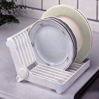 bamboo plate rack - Foldable Dish Dry Rack Sink Holder Dish Plate Organizer Drainer Kitchen Storage
