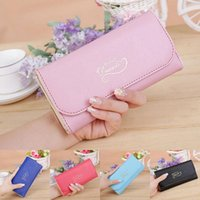 Wholesale 2016 New Womens Ladies Envelope Leather Wallet Button Clutch Purse Brand Long Handbag
