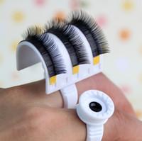 Wholesale Glue Ring Strip Eyelash Holder Eyelash Extensions Pallet Set For Volume D Lashes Eyelash Extensions