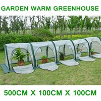 Cheap 500cm x 100cm x 100cm Garden Grow Tent Greenhouse Transparent PE Film Agriculture Hydroponic Warm House Mylar Outdoor Greenhouse
