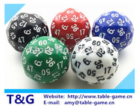 Wholesale pc T amp G High Quality sided Boardgame Dice D60 Dungeon and Dragons rpg d amp d dados math education