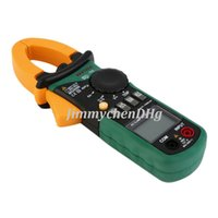 Wholesale MASTECH MS2008B counts A Professional Digital Clamp Meter DC AC Volt Current Res Cap Temp Freq Clamp Meters
