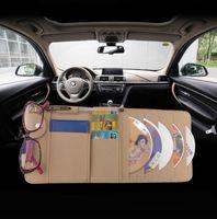 Wholesale Sun Visor Multifunction Felt Car Card Package Holder Glasses Storage Pen Organizer Car Hanging Bag Auto Accessories Pocket
