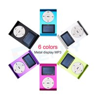 Wholesale MP3 Player LCD Screen Hot marking Mini USB Clip Support GB Micro SD TF Card Digital Mp3 players O29