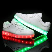 army shoes for kids - Fashion Led Shoes For Children Women Men Luminous Sneakers boys girls USB Charging Light Up kids Glowing Led Shoes neakers Kids B