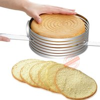 Wholesale Accessories kitchen thick inch slice Round the big cake slice of the pie plate can adjust the layer baking mold FDA