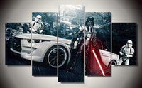 Wholesale Framed Printed Star Wars Movie piece picture painting wall art children s room decor poster canvas