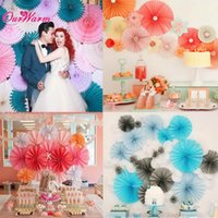 paper display - 50 pieces Honey Comb Fan Tissue Paper Pompoms Flower Party Wedding Home Decoration Supplies inch
