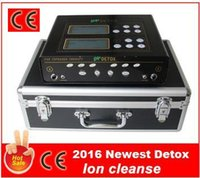 Wholesale 2016 Newest CE Approved Deep Cleansing Dual Ionic Foot Detox With Wristband FIR Belt Detox Machine Ionic Cleanse Detox Foot Spa DHL Free