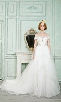 Wholesale Bellabride Gorgeous Lace Princess Wedding Dresses Sweetheart Off the Shoulder Beaded Appliques Cathedral Mermaid Gowns
