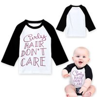 Wholesale Unisex Kids T Shirts Spring Autumn Long Sleeve Letter Shirts Clothes For Girls Europe Baby Boy Cotton Tops New
