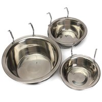 Wholesale Excellent Quality Stainless Steel Cage Coop Cup Pet Bird Dog Puppy Food Water Bowl Hanger