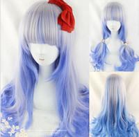 Cheap Long Blue Anime Wig Hair Best Boy Under $30 long curly hair
