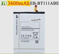 Wholesale Cheap Genuine T110 Tab Battery T3600E mAh Battery For Samsung Galaxy Tab Lite inch T110 T111 High Quality