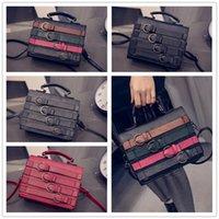 alligator skin belt - High grade Spring and summer fashion style retro oil skin color belt PU messenger bag Shoulder Messenger Handbag VMB83