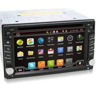 Wholesale Universal din Android Car DVD player GPS Wifi Bluetooth Radio Quad Core DDR3 Capacitive Touch Screen G car pc aduio