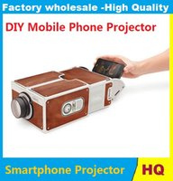 Wholesale Portable Cardboard Smartphone Projector V2 DIY Mobile Phone Projector Portable Cinema for Smart Phone