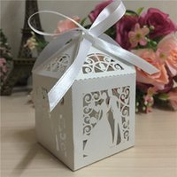 Wholesale wedding favors decorative candy boxes for wedding invitation box party celebrate