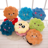 Wholesale 10 COLORS New cm Flower Plush Toys Soft Stuffed Cushion Pillow Cute Birthday Gift Good PP Cotton EMS