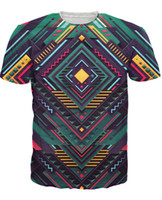 artistic t shirts - Pure Geometry T Shirt artistic tribal d print t shirt summer style fashion clothing tees chemise camisas for unisex women men