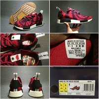 authentic kicks - Drop Shipping Authentic Originals NMD Runner AQ4791 Nice kicks Black Red Men s Sports Running Shoes Size