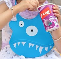 Wholesale Thick silicone baby bib baby bibs eat increase paragraph groove natural droop HJIA540