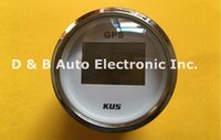 Wholesale 1pc KUS mm GPS Speedometers GPS Tachometers V V For Boat Automobile With GPS Antenna White Color