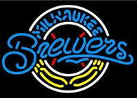 beer brewers - New Milwaukee Brewers Light Size quot X17 quot Glass Neon Sign Beer Bar Pub Arts Crsfts Gifts Sign