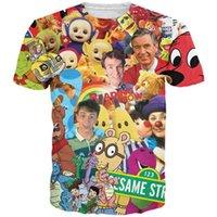 barneys baby - Childhood TV Shows d t shirt women men Blues Clues Clifford Little Bear Barney Antenna baby cartoon t shirts casual tee shirts