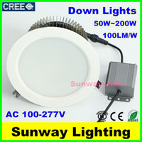 Wholesale Recessed led high bay light W W W W W w W W LED canopy light indoor down led shop lights AC V