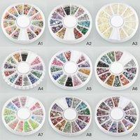 Wholesale Nail Art Rhinestones Glitters Acrylic Tips Decoration Manicure Wheel K00020 CAD